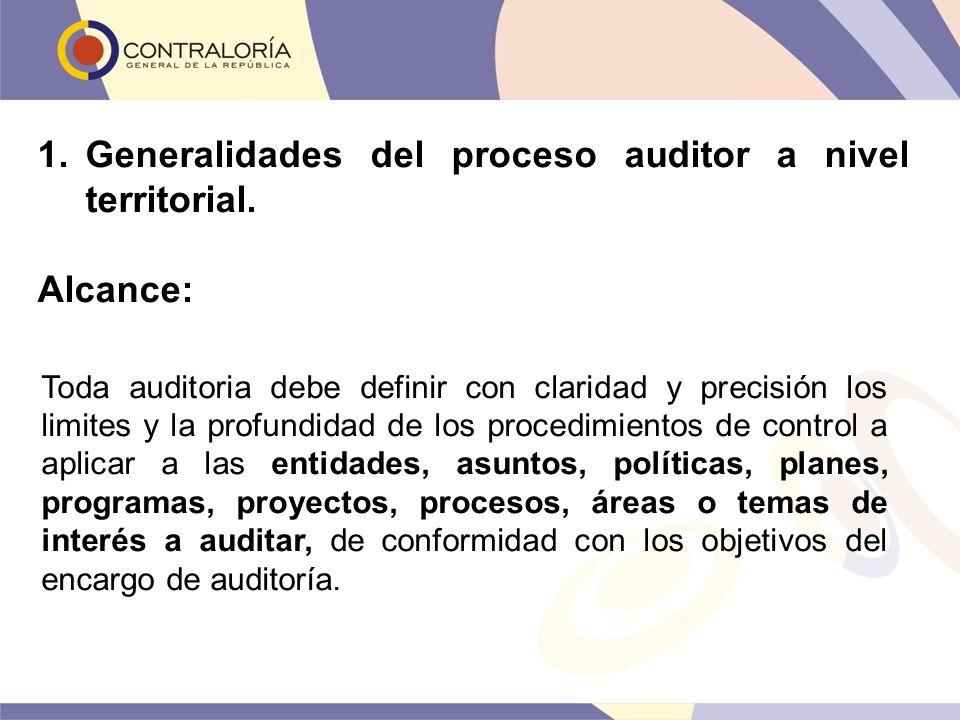 Toda auditoria debe definir con claridad y precisión los limites y la profundidad de los procedimientos de control a aplicar a las entidades, asuntos,