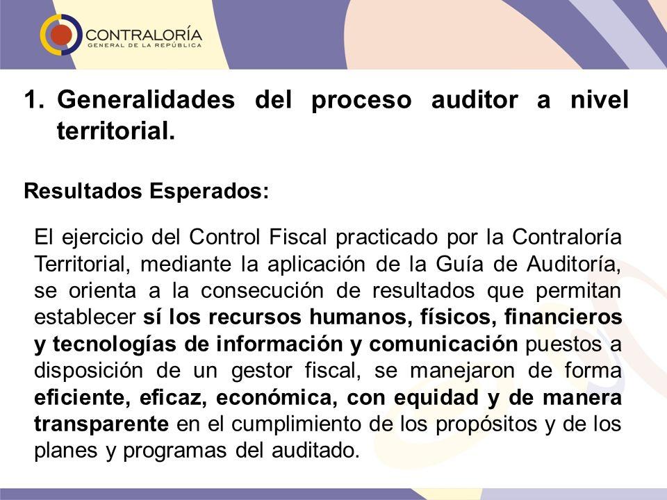 El ejercicio del Control Fiscal practicado por la Contraloría Territorial, mediante la aplicación de la Guía de Auditoría, se orienta a la consecución