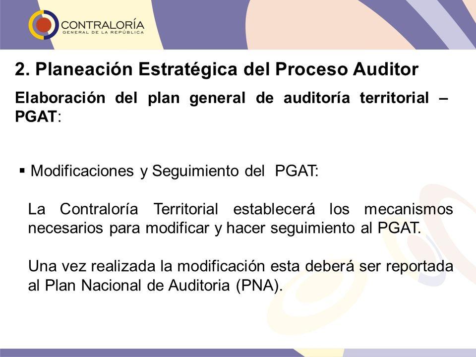Modificaciones y Seguimiento del PGAT: La Contraloría Territorial establecerá los mecanismos necesarios para modificar y hacer seguimiento al PGAT. Un