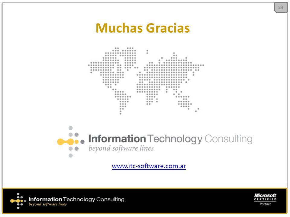 Muchas Gracias 24 www.itc-software.com.ar