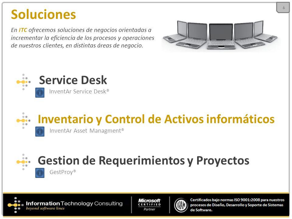 Soluciones En ITC ofrecemos soluciones de negocios orientadas a incrementar la eficiencia de los procesos y operaciones de nuestros clientes, en disti