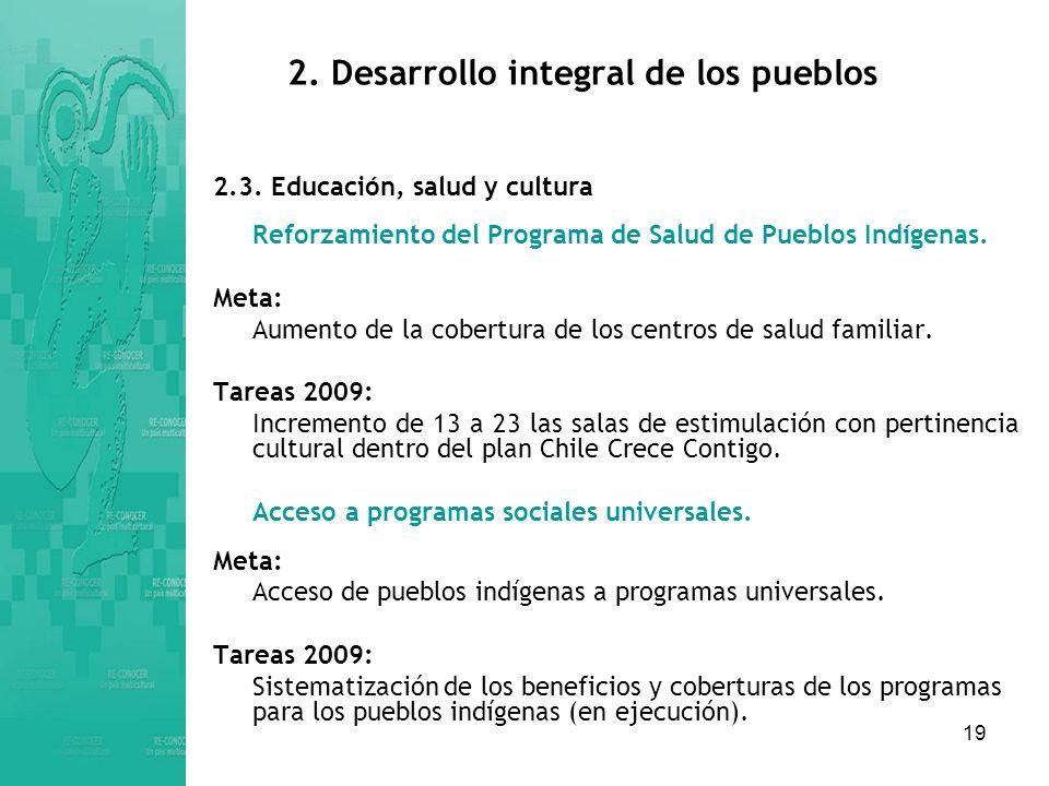 19 2.Desarrollo integral de los pueblos 2.3.