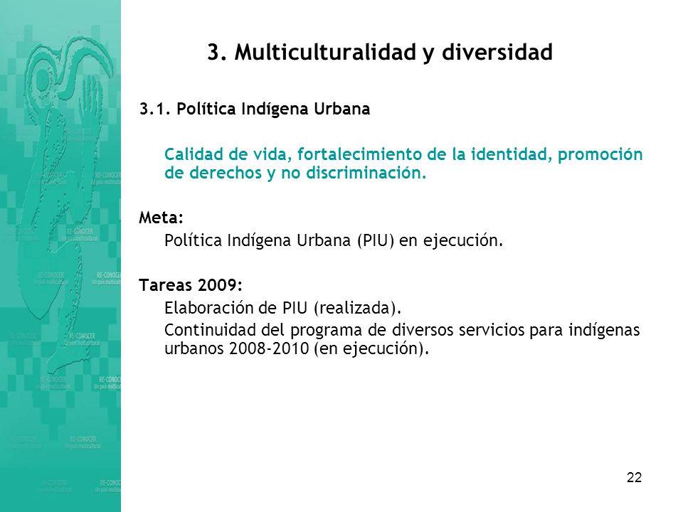 22 3.Multiculturalidad y diversidad 3.1.