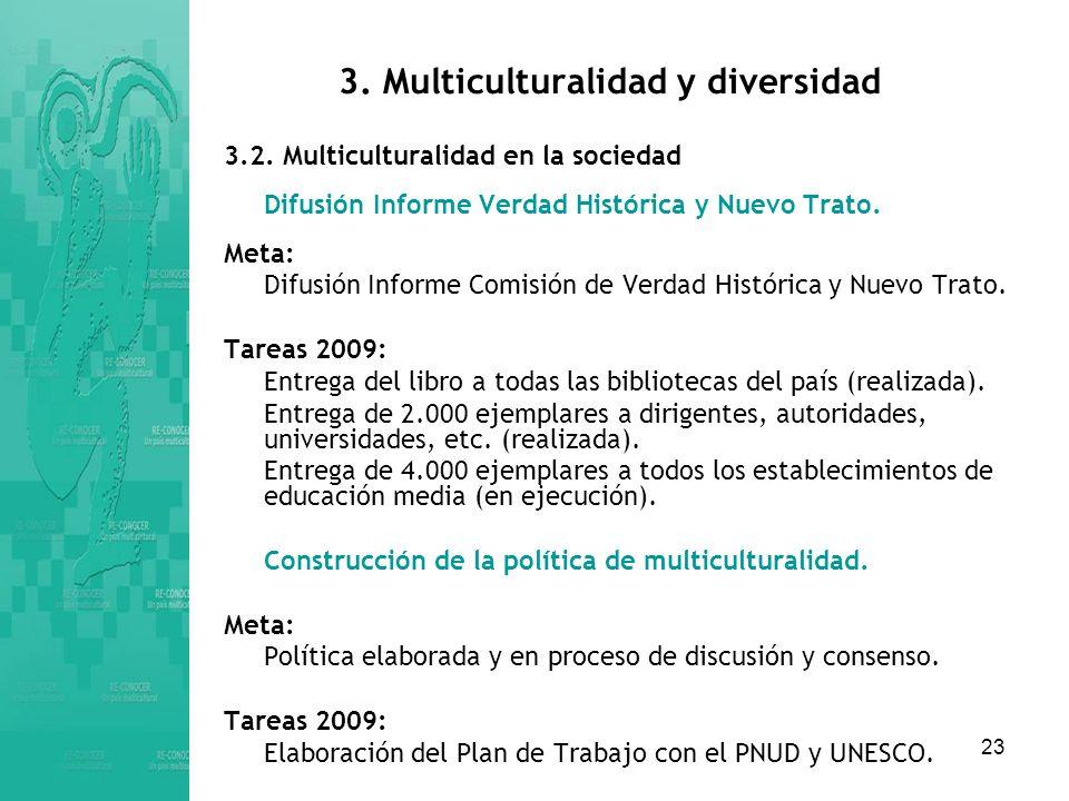 23 3.Multiculturalidad y diversidad 3.2.