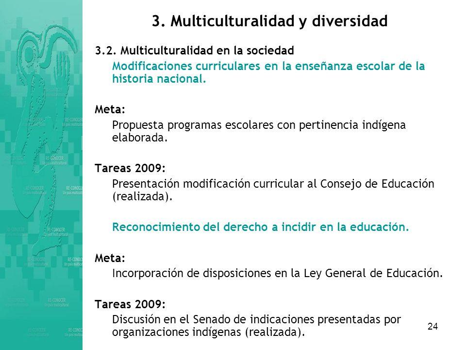 24 3.Multiculturalidad y diversidad 3.2.