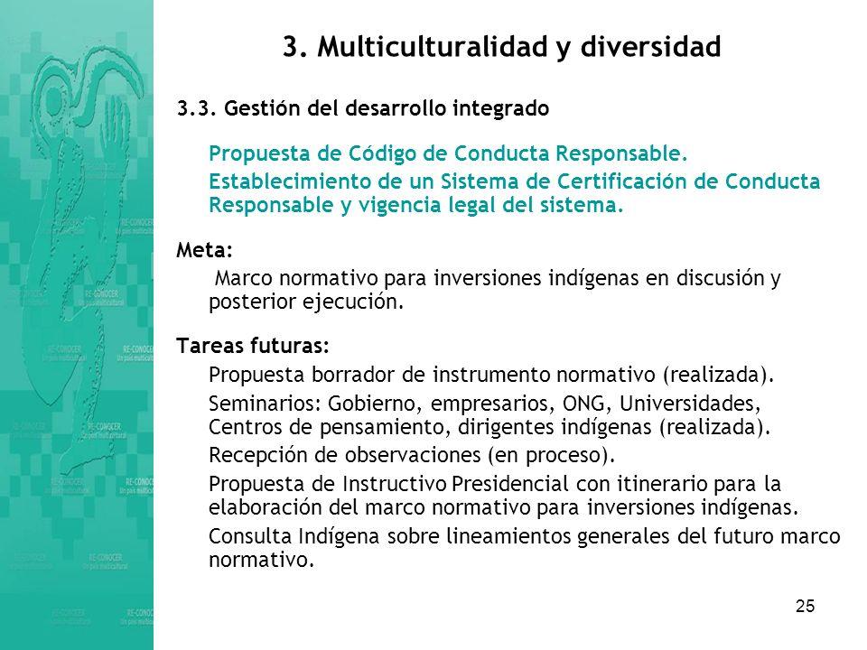 25 3.Multiculturalidad y diversidad 3.3.