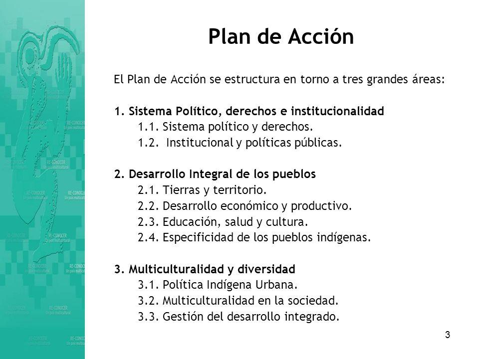 3 Plan de Acción El Plan de Acción se estructura en torno a tres grandes áreas: 1.