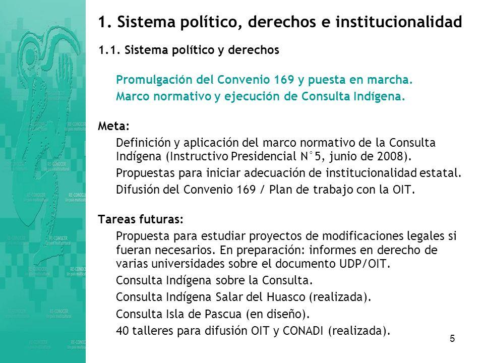 5 1.Sistema político, derechos e institucionalidad 1.1.