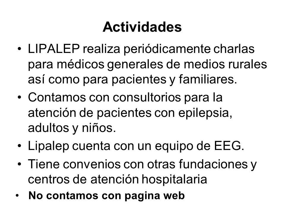 Actividades LIPALEP realiza periódicamente charlas para médicos generales de medios rurales así como para pacientes y familiares. Contamos con consult