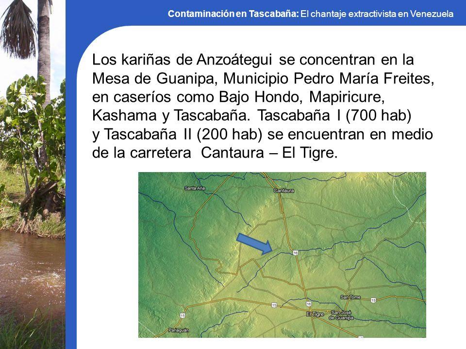 Contaminación en Tascabaña: El chantaje extractivista en Venezuela Los kariñas de Anzoátegui se concentran en la Mesa de Guanipa, Municipio Pedro Marí