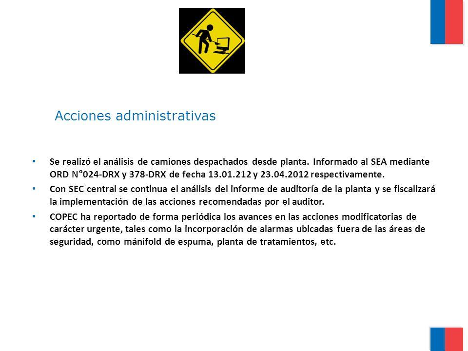 Se realizó el análisis de camiones despachados desde planta. Informado al SEA mediante ORD N°024-DRX y 378-DRX de fecha 13.01.212 y 23.04.2012 respect