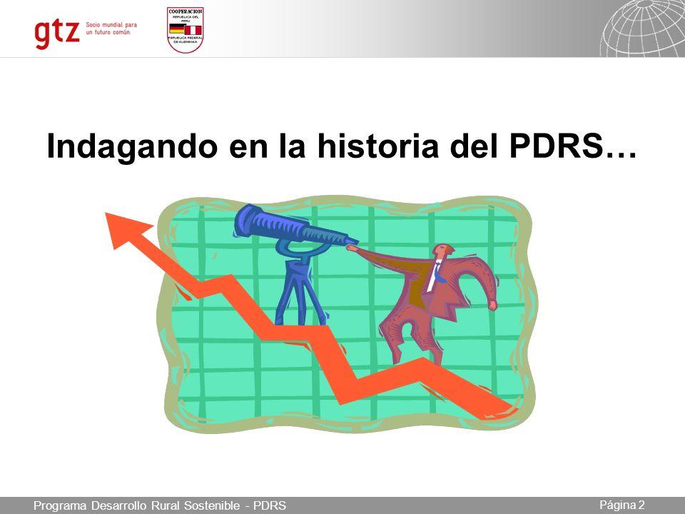 03.05.2014 Seite 3 Página 3 Programa Desarrollo Rural Sostenible - PDRS Principales hitos (1) (1) La duración del Programa fue prevista para un período de 12 años: 07/2003 a 06/2015.