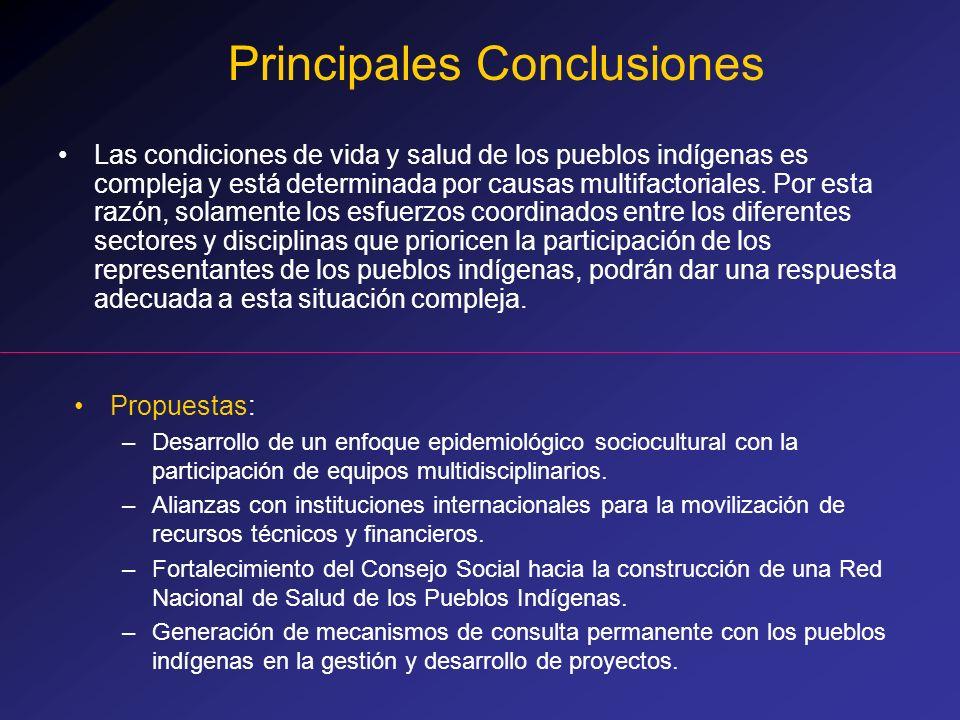 Las condiciones de vida y salud de los pueblos indígenas es compleja y está determinada por causas multifactoriales. Por esta razón, solamente los esf