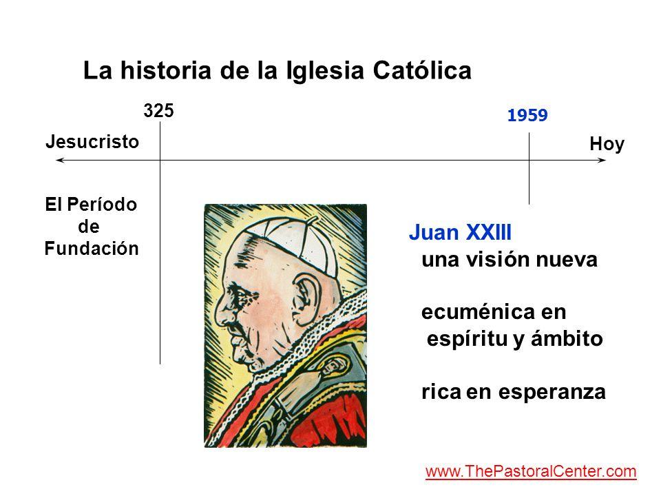 La historia de la Iglesia Católica Jesucristo Hoy El Período de Fundación 325 Juan XXIII una visión nueva ecuménica en espíritu y ámbito rica en esper