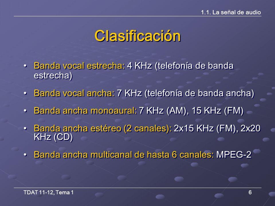 TDAT 11-12, Tema 137 Difusión y recepción 1.3.