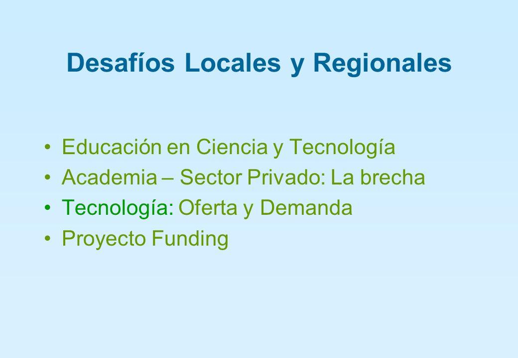 Desafíos Locales y Regionales Educación en Ciencia y Tecnología Academia – Sector Privado: La brecha Tecnología: Oferta y Demanda Proyecto Funding