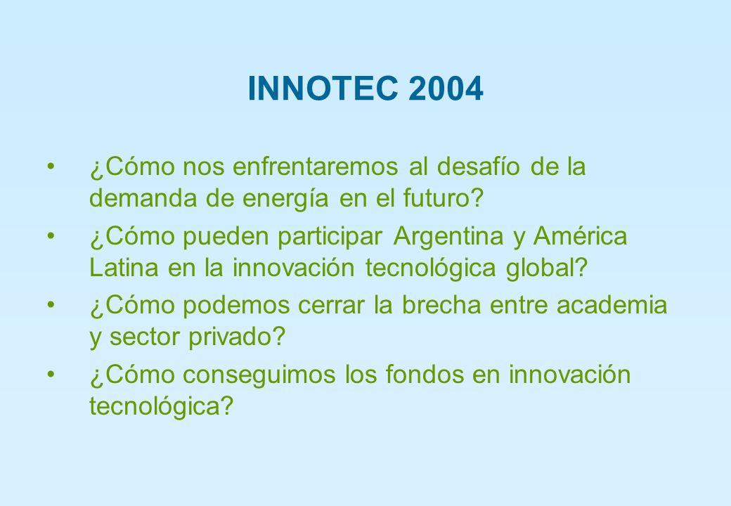 INNOTEC 2004 ¿Cómo nos enfrentaremos al desafío de la demanda de energía en el futuro.