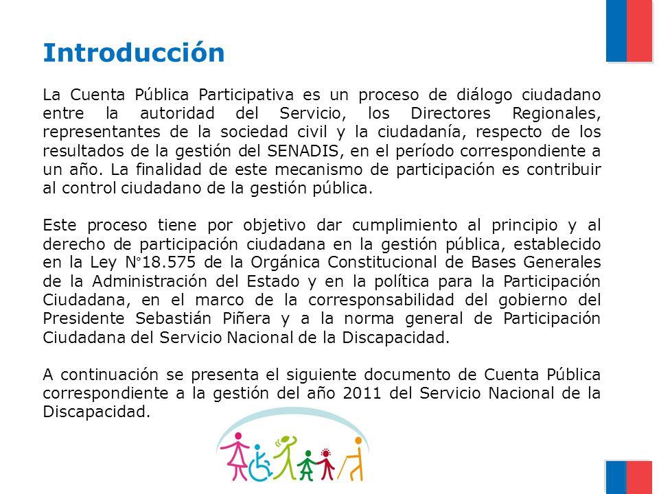 Introducción La Cuenta Pública Participativa es un proceso de diálogo ciudadano entre la autoridad del Servicio, los Directores Regionales, representa