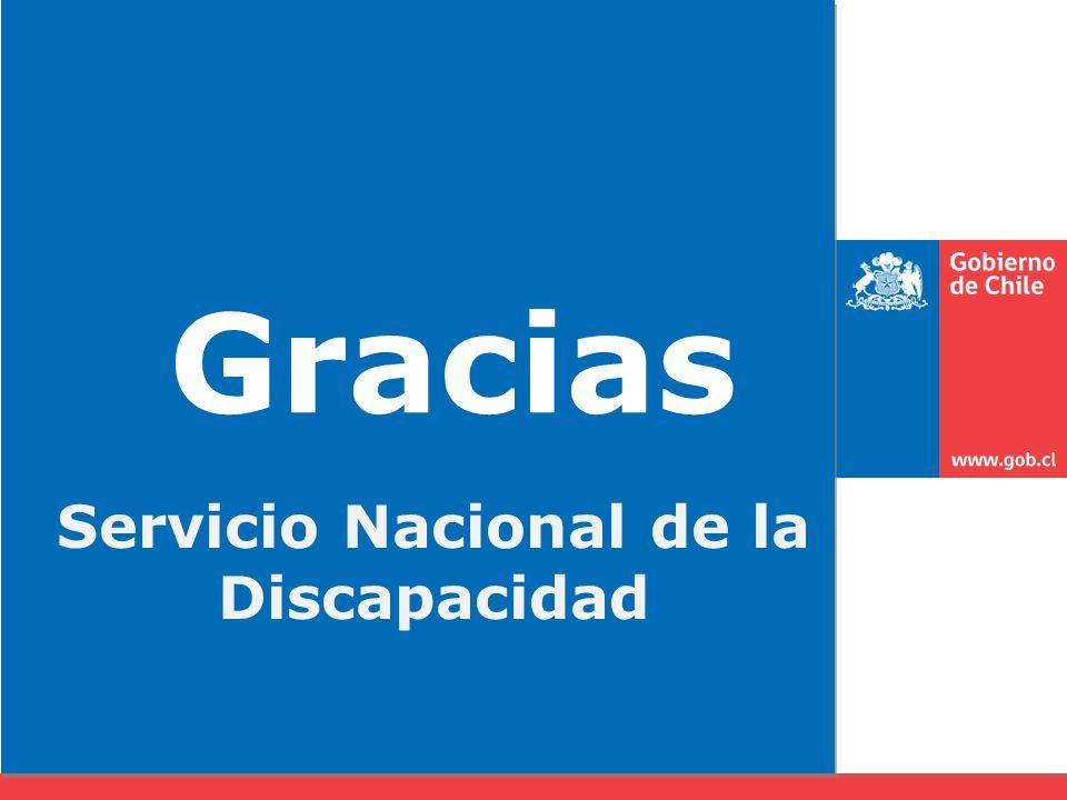 Gracias Servicio Nacional de la Discapacidad