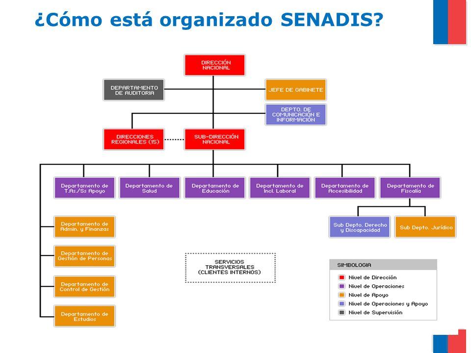 El personal del SENADIS, al 31 de diciembre de 2011, estaba compuesto por 149 personas.