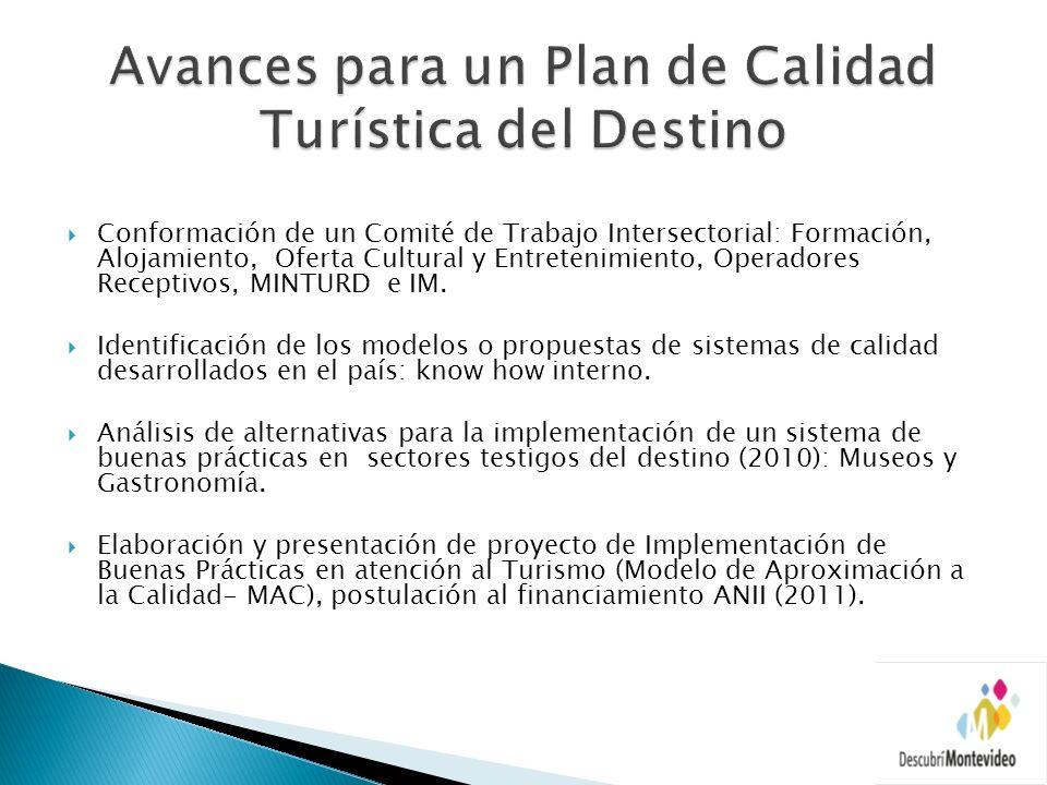 Conformación de un Comité de Trabajo Intersectorial: Formación, Alojamiento, Oferta Cultural y Entretenimiento, Operadores Receptivos, MINTURD e IM. I