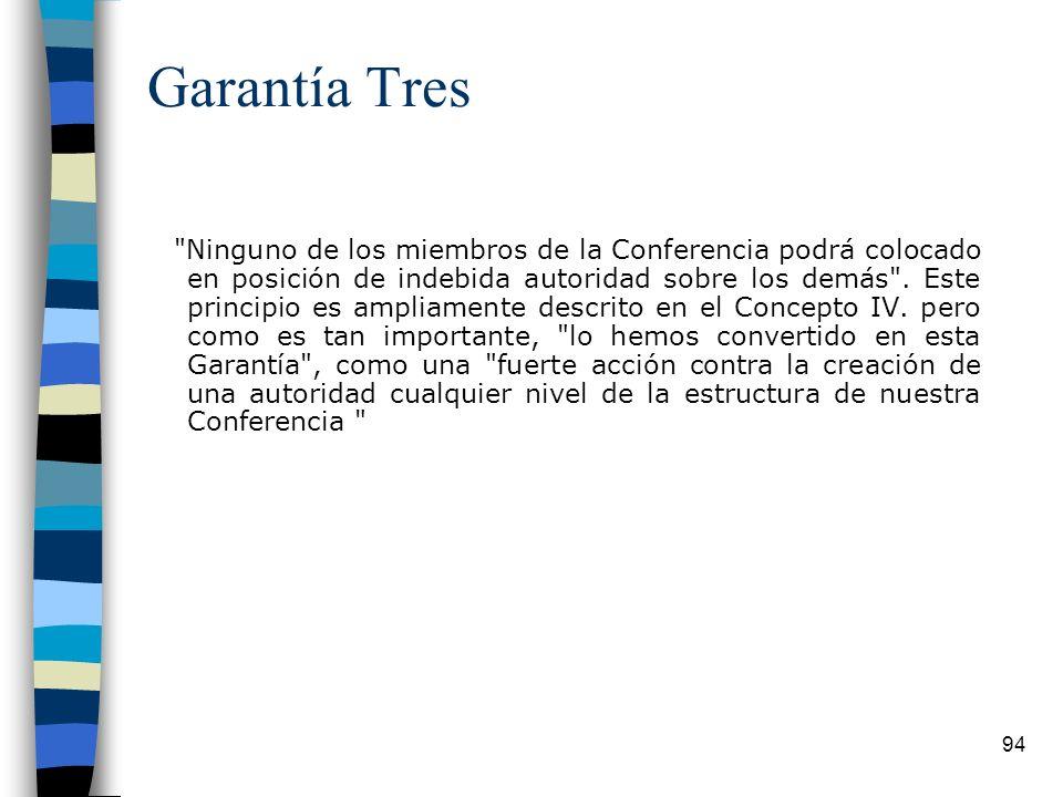 94 Garantía Tres