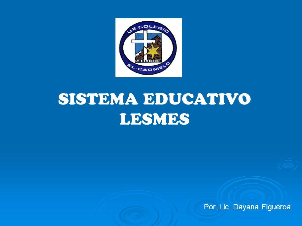 SISTEMA EDUCATIVO LESMES Por. Lic. Dayana Figueroa