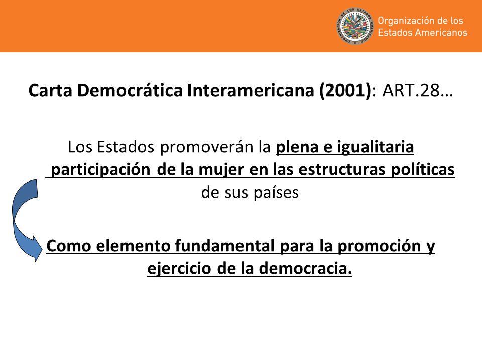 Los instrumentos legales internacionales: Proclaman la igualdad entre mujeres y hombres Señalan la necesidad de construir condiciones para el ejercicio pleno y equitativo de los derechos políticos; Vinculan ese ejercicio a la calidad de la democracia.