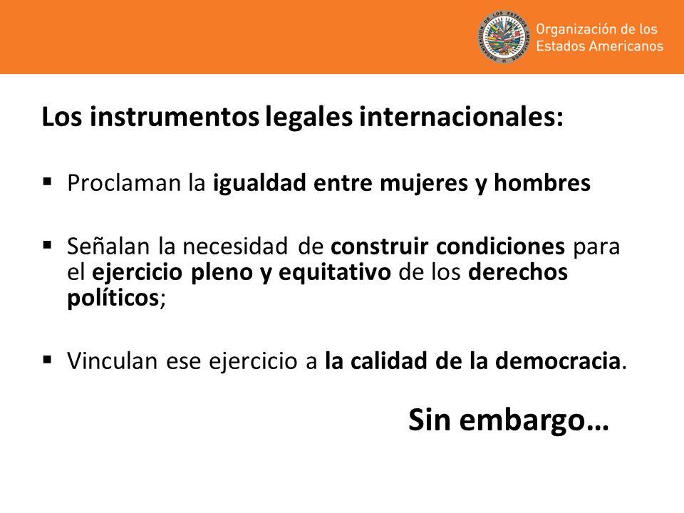 ¿Igualdad formal = Igualdad real? Sexta cumbre de las Américas - 2012