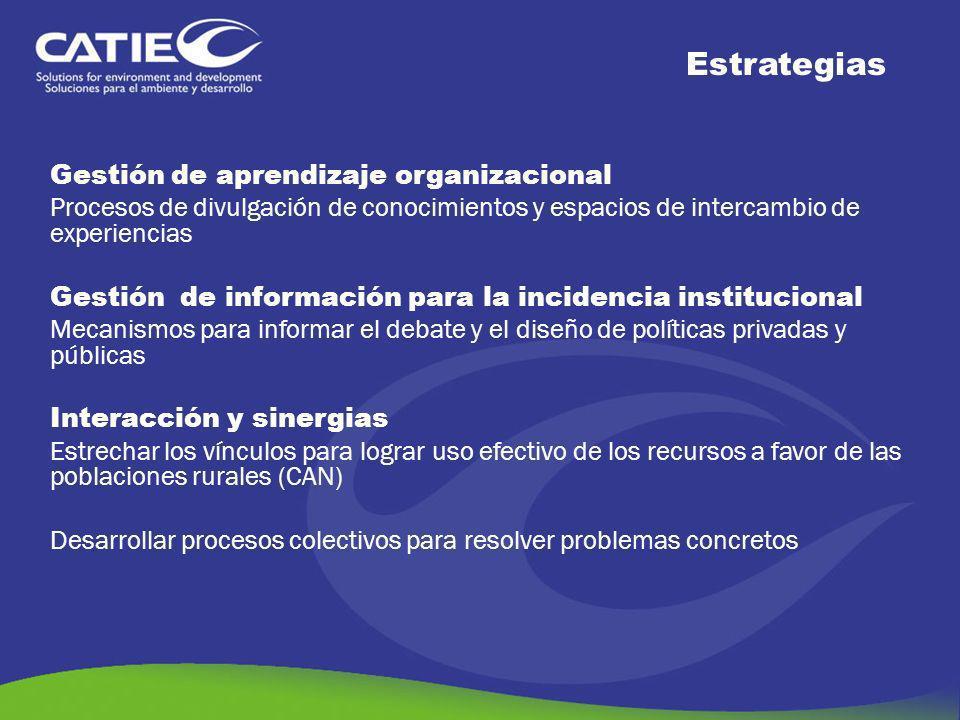 Gestión de aprendizaje organizacional Procesos de divulgación de conocimientos y espacios de intercambio de experiencias Gestión de información para l
