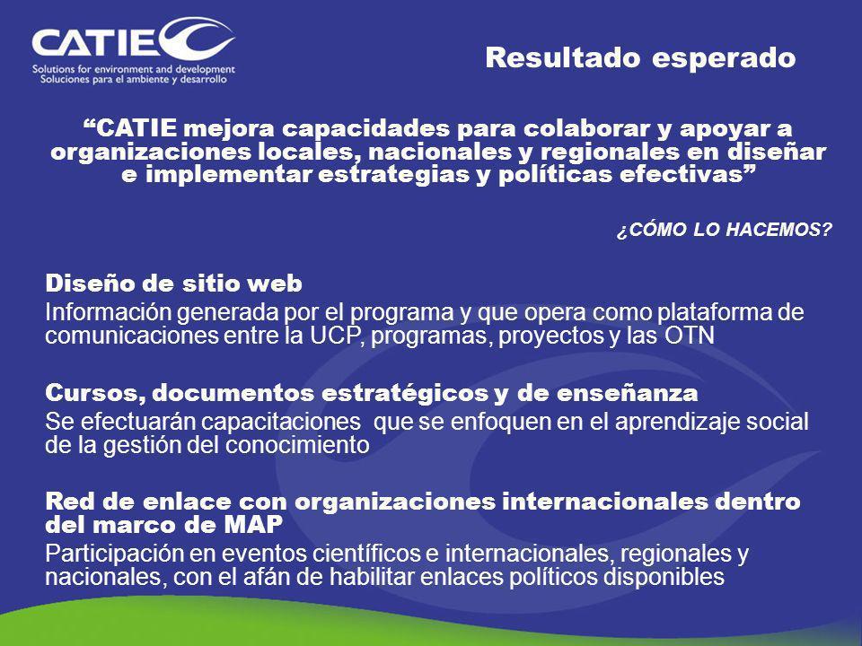 CATIE mejora capacidades para colaborar y apoyar a organizaciones locales, nacionales y regionales en diseñar e implementar estrategias y políticas ef