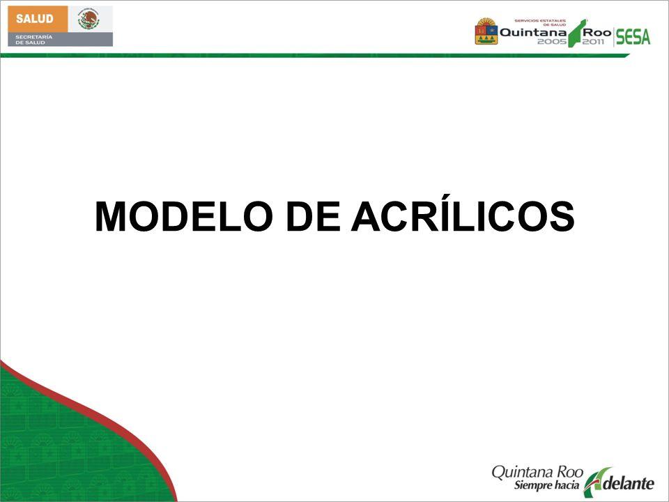 MODELO DE ACRÍLICOS