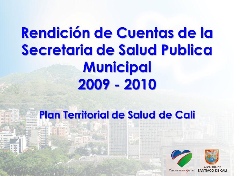 Rendición de Cuentas de la Secretaria de Salud Publica Municipal 2009 - 2010 Plan Territorial de Salud de Cali