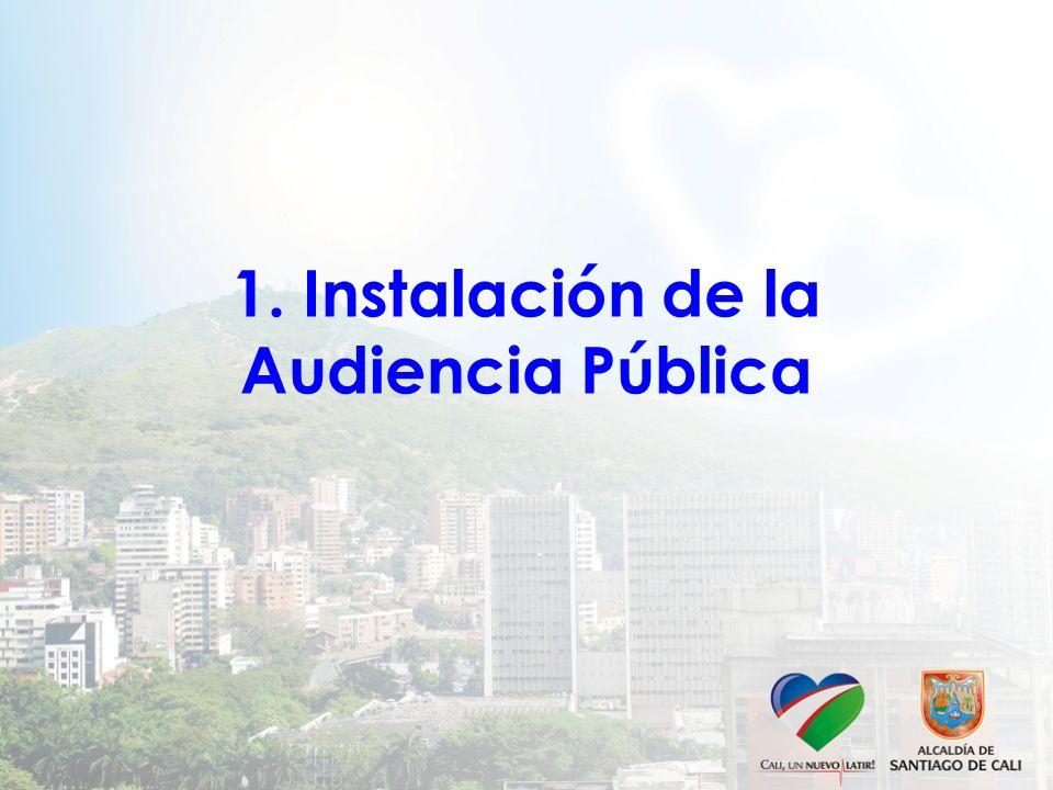 1. Instalación de la Audiencia Pública