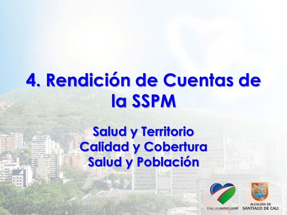 4. Rendición de Cuentas de la SSPM Salud y Territorio Calidad y Cobertura Salud y Población