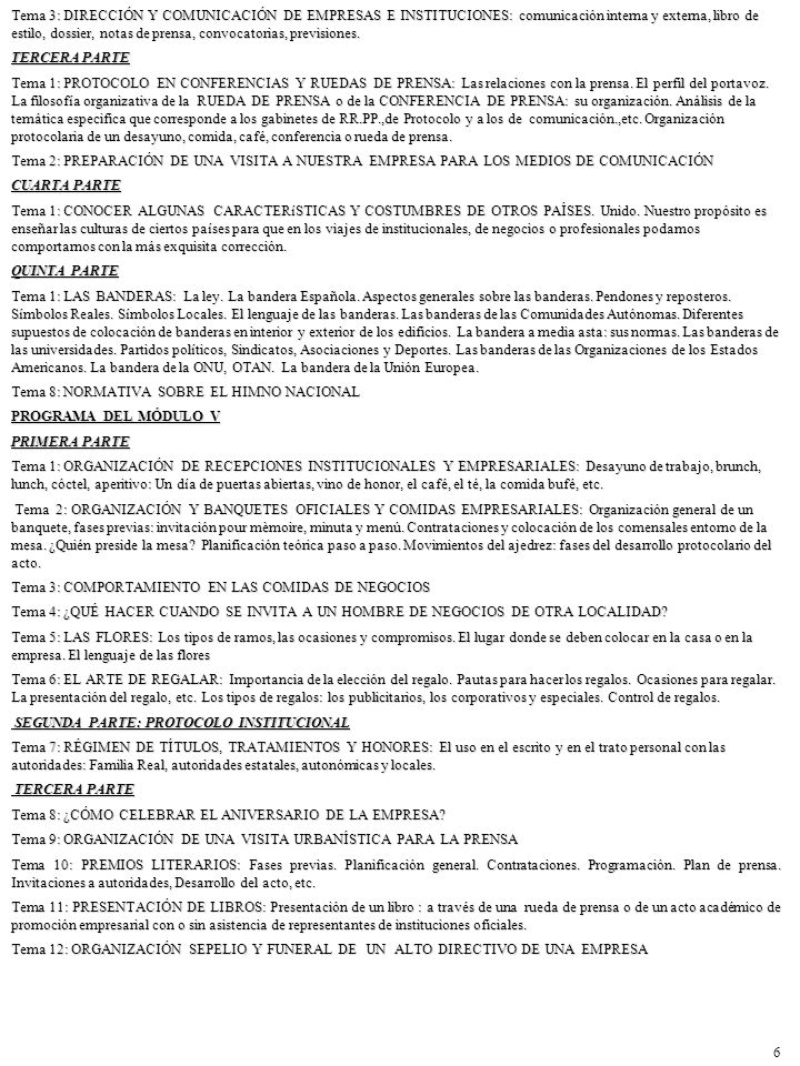 PROGRAMA MÓDULO VI PRIMERA PARTE: PROTOCOLO SOCIAL Tema 1: ASPECTOS GENERALES DE LA IMAGEN.