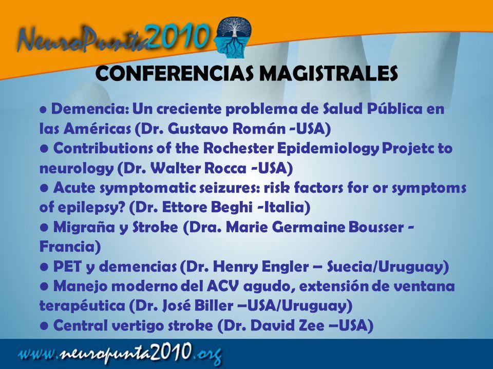 Demencia: Un creciente problema de Salud Pública en las Américas (Dr. Gustavo Román -USA) Contributions of the Rochester Epidemiology Projetc to neuro