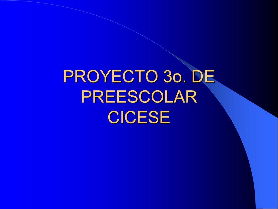 PROYECTO 3o. DE PREESCOLAR CICESE