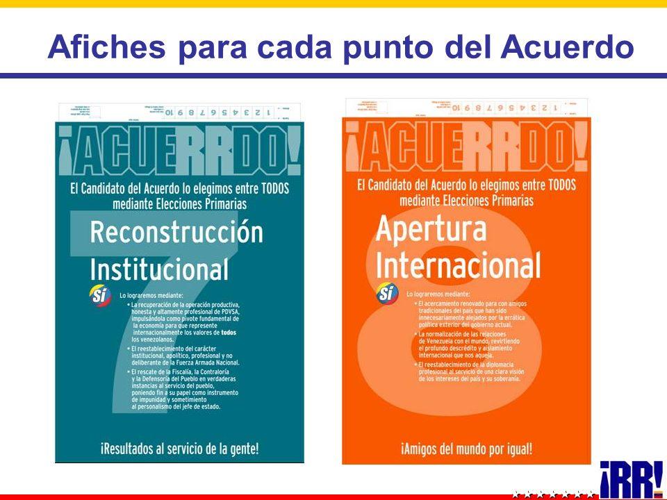 Afiches para cada punto del Acuerdo