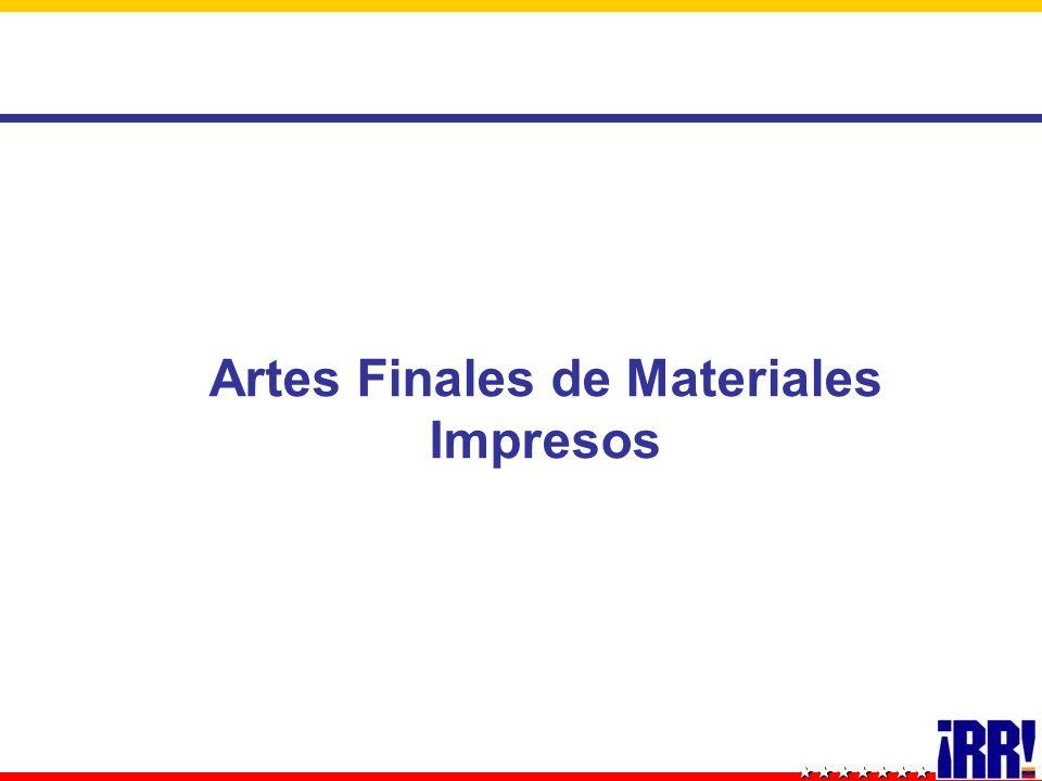 Artes Finales de Materiales Impresos