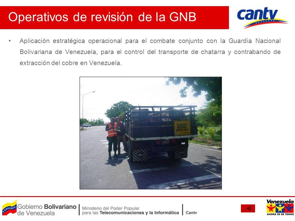 Aplicación estratégica operacional para el combate conjunto con la Guardia Nacional Bolivariana de Venezuela, para el control del transporte de chatar