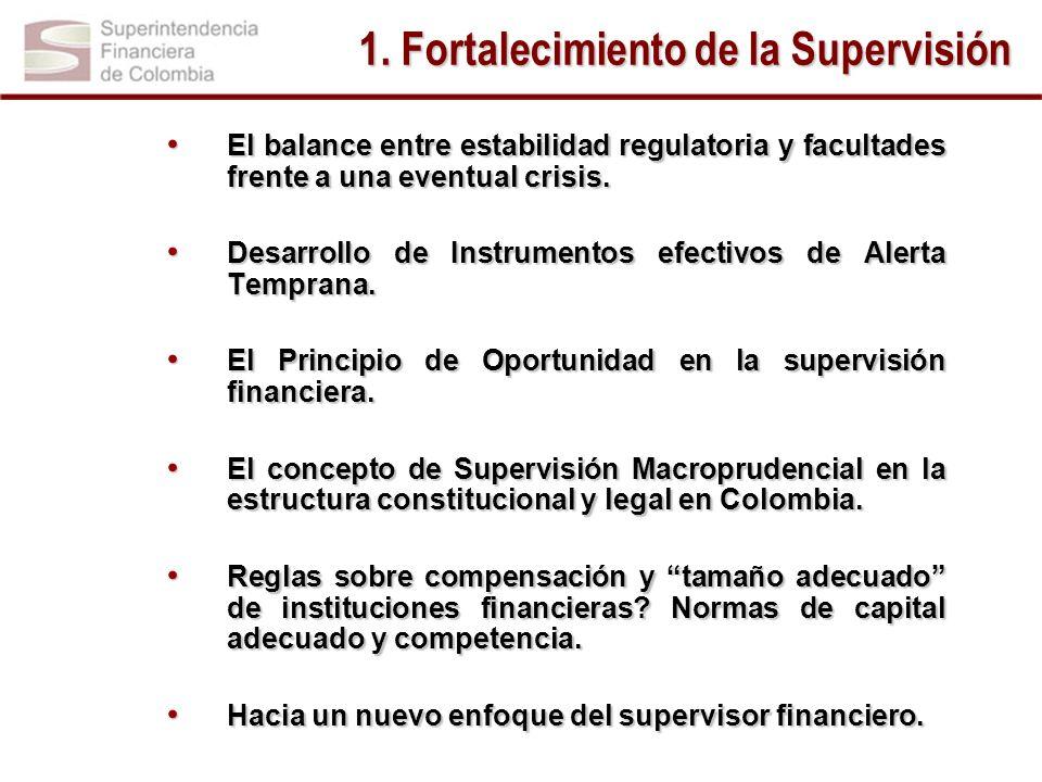 El balance entre estabilidad regulatoria y facultades frente a una eventual crisis. El balance entre estabilidad regulatoria y facultades frente a una