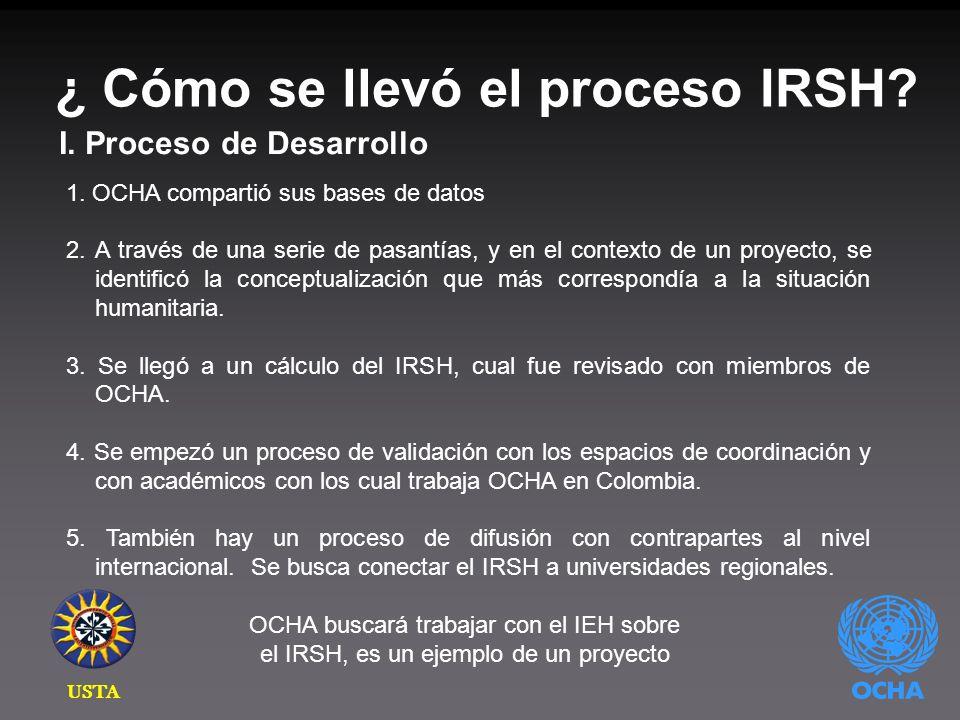 ¿ Cómo se llevó el proceso IRSH. I. Proceso de Desarrollo 1.
