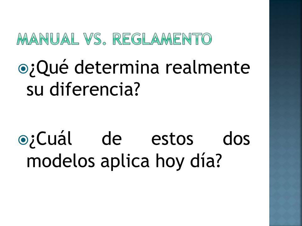 ¿Qué determina realmente su diferencia? ¿Cuál de estos dos modelos aplica hoy día?