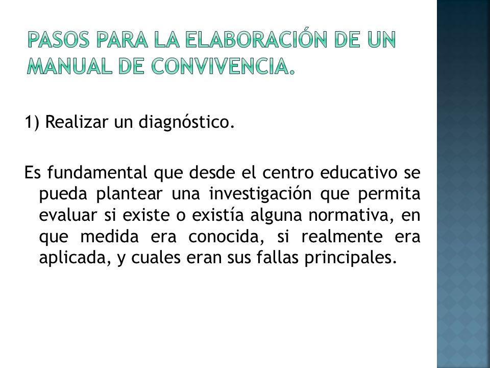 1) Realizar un diagnóstico.