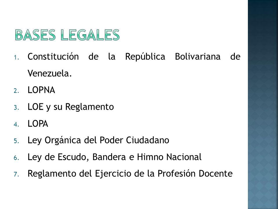 1.Constitución de la República Bolivariana de Venezuela.