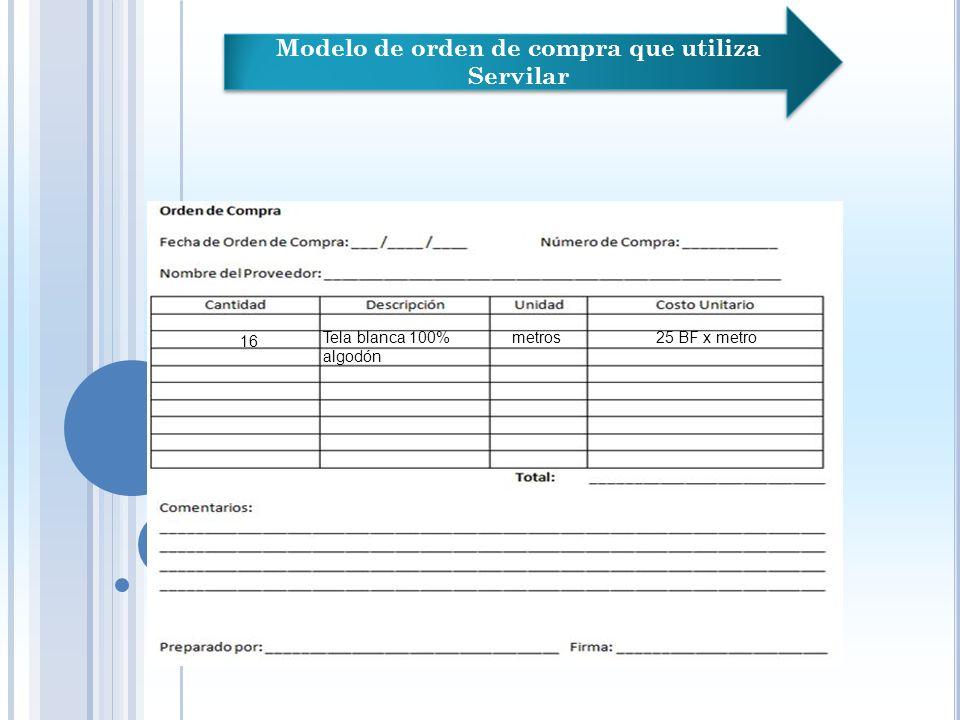 Adquisición de material de Servilar Asistente administrativo