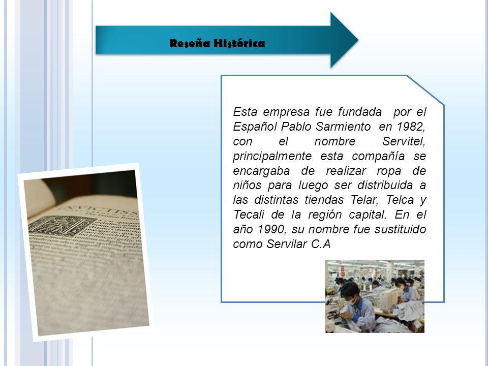 Esta empresa fue fundada por el Español Pablo Sarmiento en 1982, con el nombre Servitel, principalmente esta compañía se encargaba de realizar ropa de niños para luego ser distribuida a las distintas tiendas Telar, Telca y Tecali de la región capital.