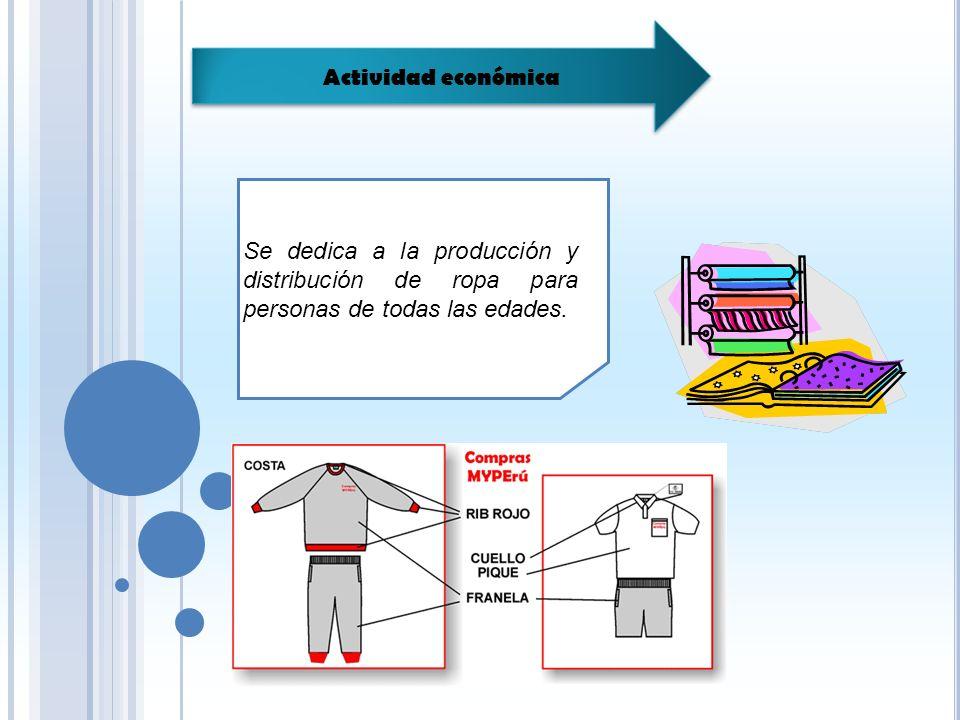 Se dedica a la producción y distribución de ropa para personas de todas las edades.