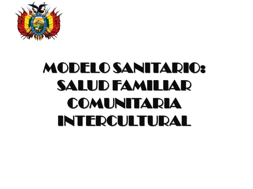 MODELO SANITARIO: SALUD FAMILIAR COMUNITARIA INTERCULTURAL Estado Plurinacional de Bolivia Ministerio de Salud y Deportes